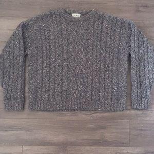 L.L. Bean Mens Heather Gray Crew Neck Sweater (L)